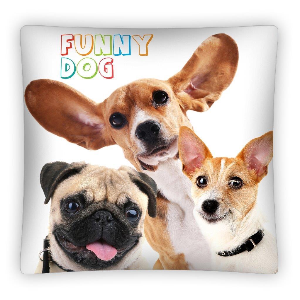 Poszewka 40x40 Ozdobna Pieski Funny Dog Ps0004 Sklep Topcottonpl
